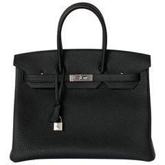 Hermes Birkin 35cm Black Togo Palladium Hardware