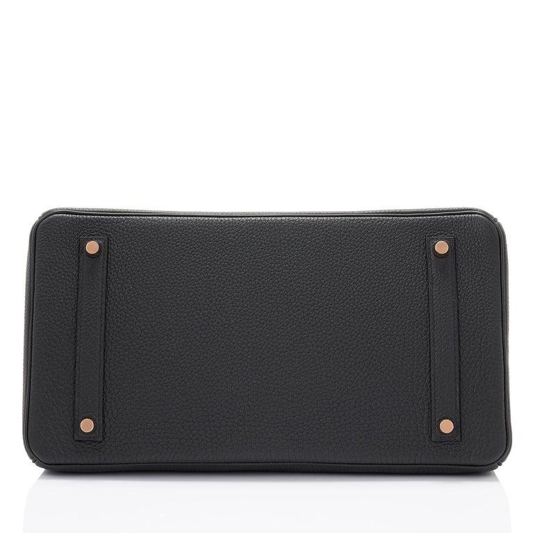 Hermes Birkin 35cm Black Togo Rose Gold Hardware Y Stamp Bag, 2020 For Sale 4