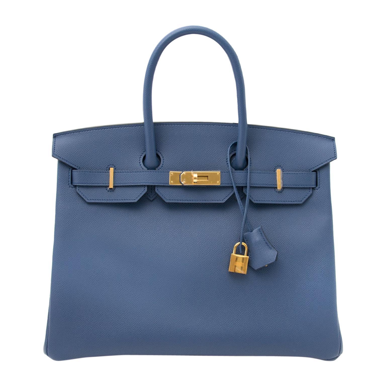 Hermes Birkin 35cm bleu agathe GHW