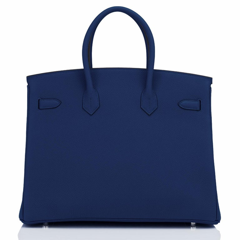 Hermes Birkin 35cm Blue Nuit Deep Navy Togo Palladium Birkin Bag Y Stamp, 2020 For Sale 1