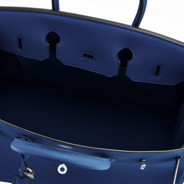 Hermes Birkin 35cm Blue Nuit Deep Navy Togo Palladium Birkin Bag Y Stamp, 2020 For Sale 4