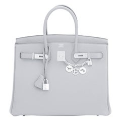 Hermes Birkin 35cm Blue Pale Bleu Palladium Hardware Bag Y Stamp, 2020