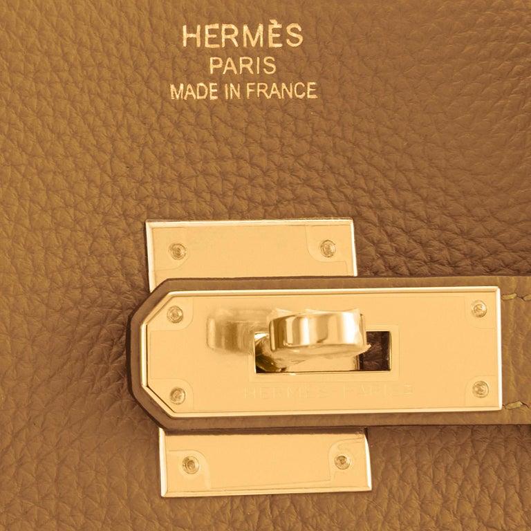 Hermes Birkin 35cm Bronze Dore Togo Gold Tan Bag Y Stamp, 2020 For Sale 5