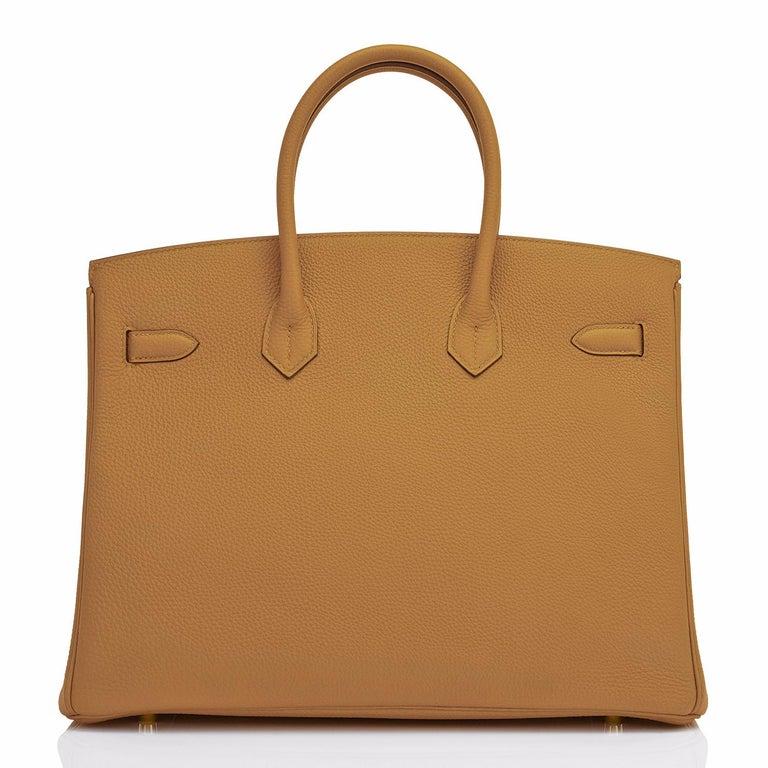 Women's or Men's Hermes Birkin 35cm Bronze Dore Togo Gold Tan Bag Y Stamp, 2020 For Sale