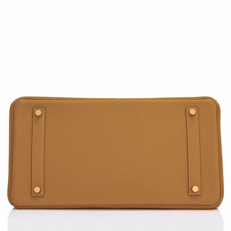 Hermes Birkin 35cm Bronze Dore Togo Gold Tan Bag Y Stamp, 2020 For Sale 1
