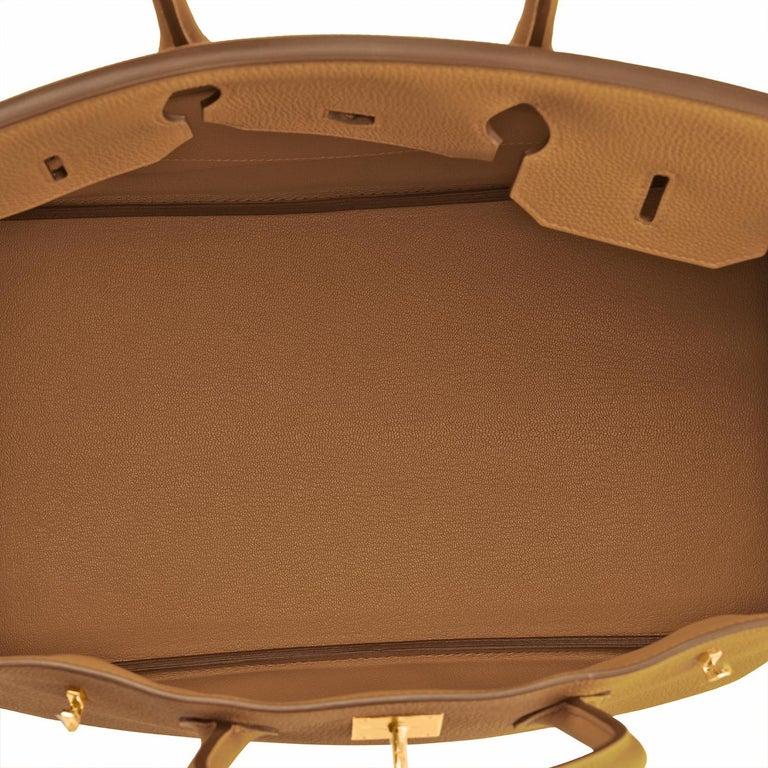 Hermes Birkin 35cm Bronze Dore Togo Gold Tan Bag Y Stamp, 2020 For Sale 3