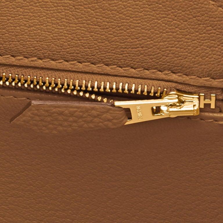 Hermes Birkin 35cm Bronze Dore Togo Gold Tan Bag Y Stamp, 2020 For Sale 4