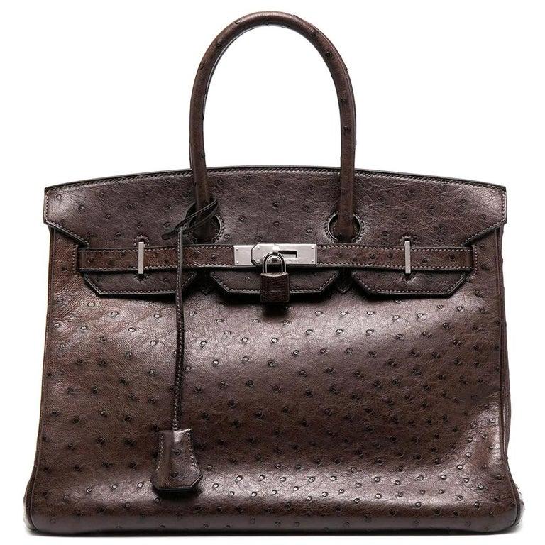 Hermès Birkin 35cm Brown Ostrich