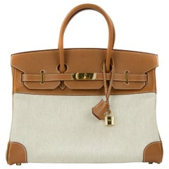 Hermes Birkin 35cm Brown Toile H Epsom bag GHW