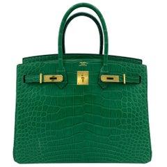 Hermès Birkin 35cm Cactus Matte Alligator Palladium Hardware
