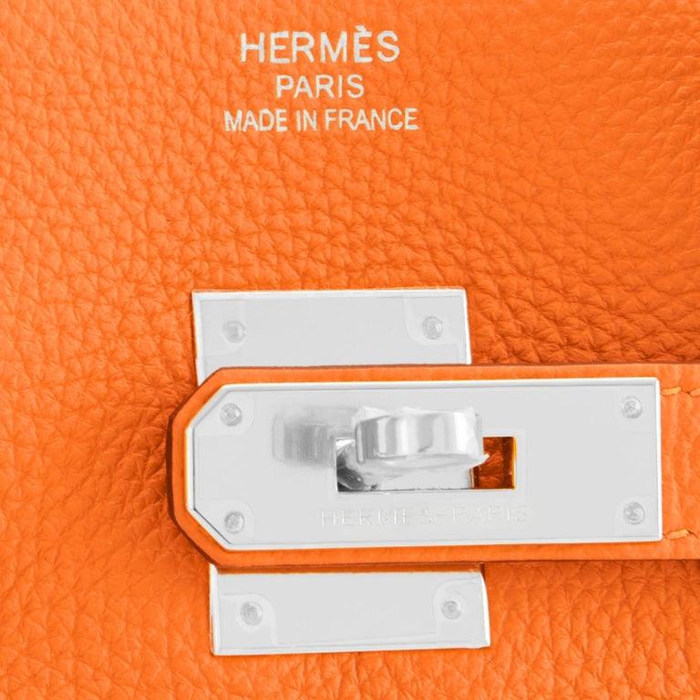 Hermes Birkin 35cm Classic Orange Togo Palladium Hardware NEW For Sale 6