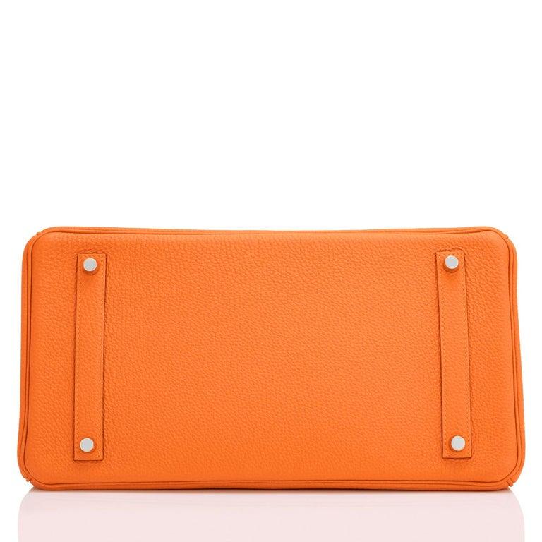 Hermes Birkin 35cm Classic Orange Togo Palladium Hardware NEW For Sale 3