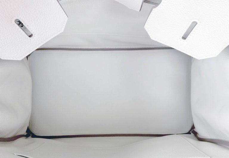 Hermes Birkin 35cm Craie Chalk Togo Palladium Hardware Y Stamp, 2020 For Sale 1