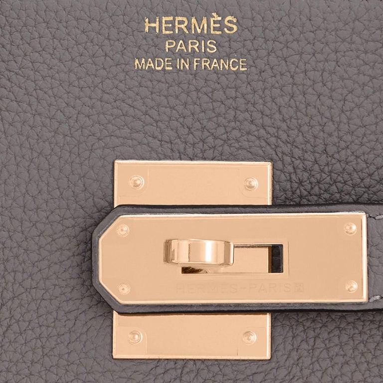 Hermes Birkin 35cm Etain Rose Gold Togo Tin Grey Hardware Bag Z Stamp, 2021 RARE 6