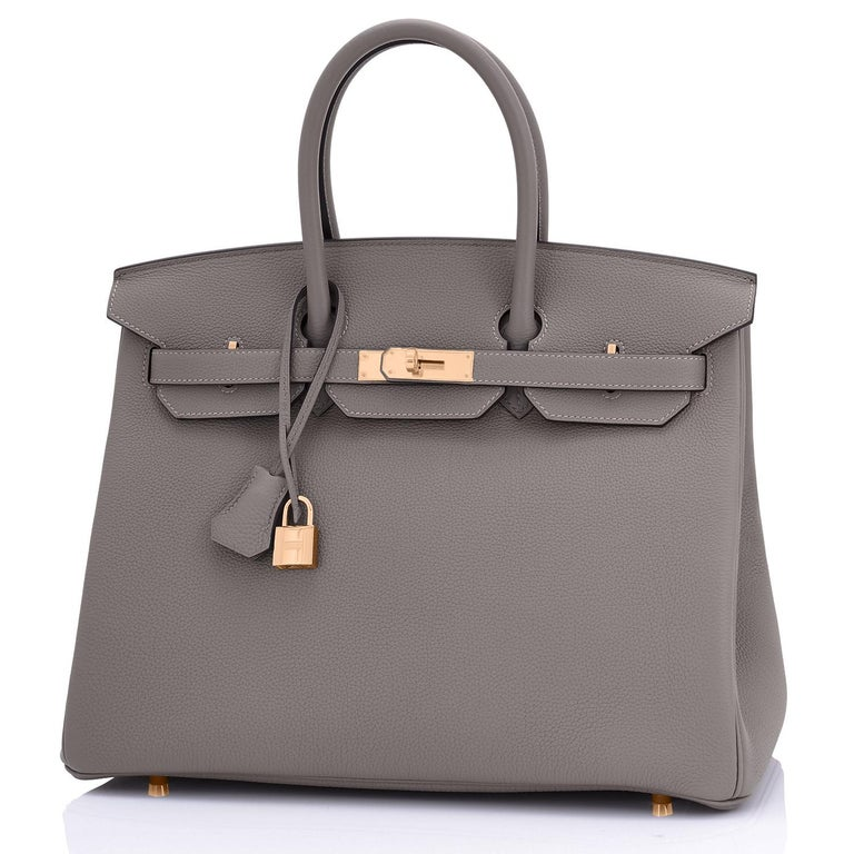 Hermes Birkin 35cm Etain Rose Gold Togo Tin Grey Hardware Bag Z Stamp, 2021 RARE 2