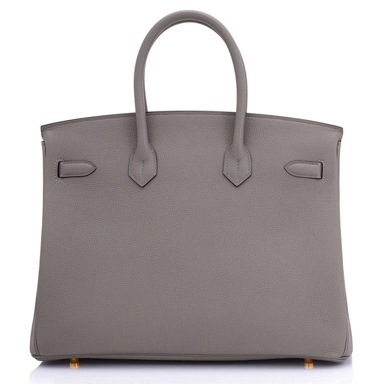 Hermes Birkin 35cm Etain Rose Gold Togo Tin Grey Hardware Bag Z Stamp, 2021 RARE 3