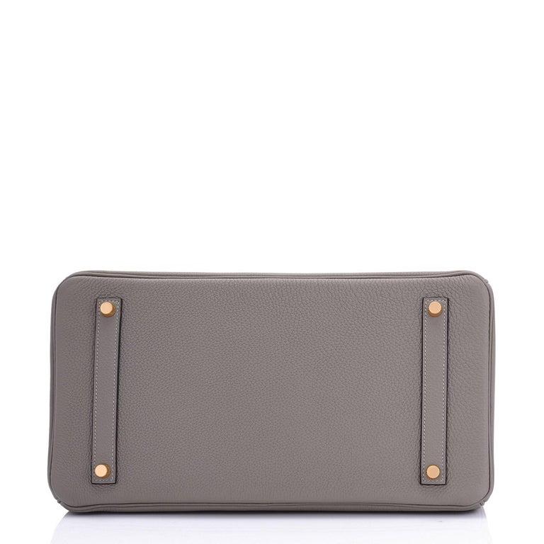 Hermes Birkin 35cm Etain Rose Gold Togo Tin Grey Hardware Bag Z Stamp, 2021 RARE 4
