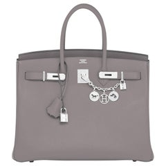 "Hermes Birkin 35cm Etain ""Tin Grey"" Palladium Hardware Bag Y Stamp, 2020"