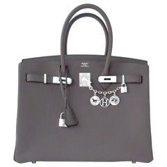 "Hermes Birkin 35cm Etain Togo ""Tin Grey"" Palladium Bag Y Stamp, 2020"