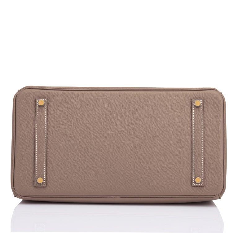 Hermes Birkin 35cm Etoupe Epsom Taupe Gold Hardware Bag Y Stamp, 2020 For Sale 2