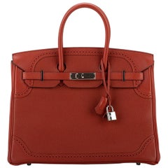 Hermes Birkin 35Cm Ghillies Brique Bag