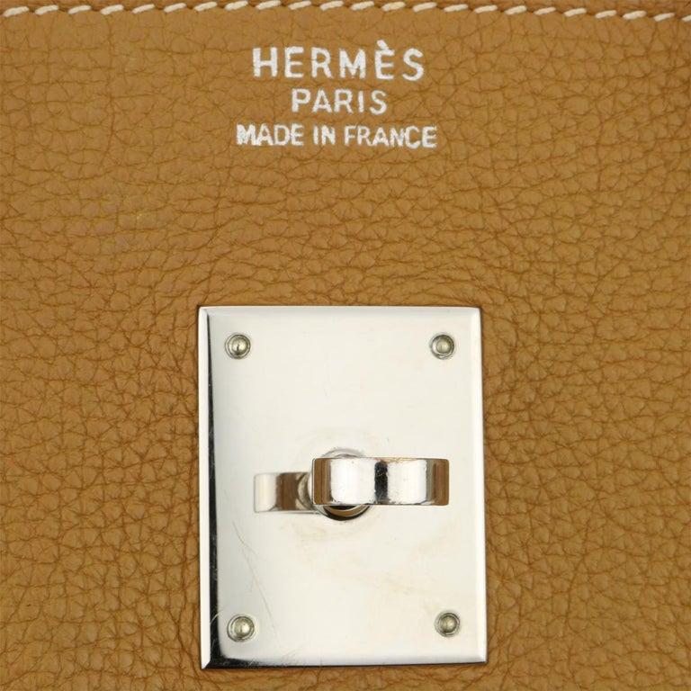 Hermès Birkin 35cm Gold Togo Leather with Palladium Hardware Stamp K Year 2007 5