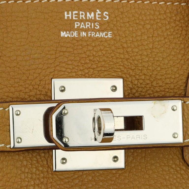 Hermès Birkin 35cm Gold Togo Leather with Palladium Hardware Stamp K Year 2007 6