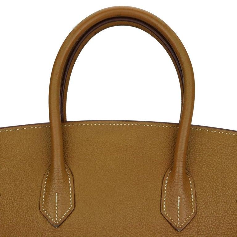 Hermès Birkin 35cm Gold Togo Leather with Palladium Hardware Stamp K Year 2007 7