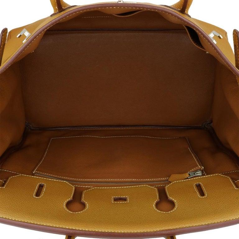 Hermès Birkin 35cm Gold Togo Leather with Palladium Hardware Stamp K Year 2007 10