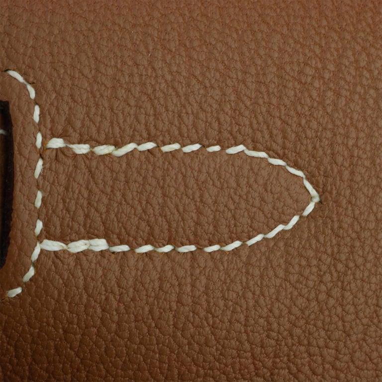 Hermès Birkin 35cm Gold Togo Leather with Palladium Hardware Stamp K Year 2007 11