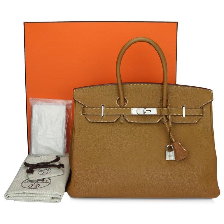 Hermès Birkin 35cm Gold Togo Leather with Palladium Hardware Stamp K Year 2007 15
