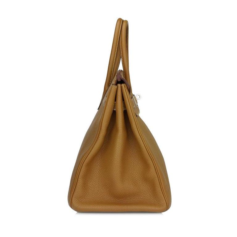 Brown Hermès Birkin 35cm Gold Togo Leather with Palladium Hardware Stamp K Year 2007