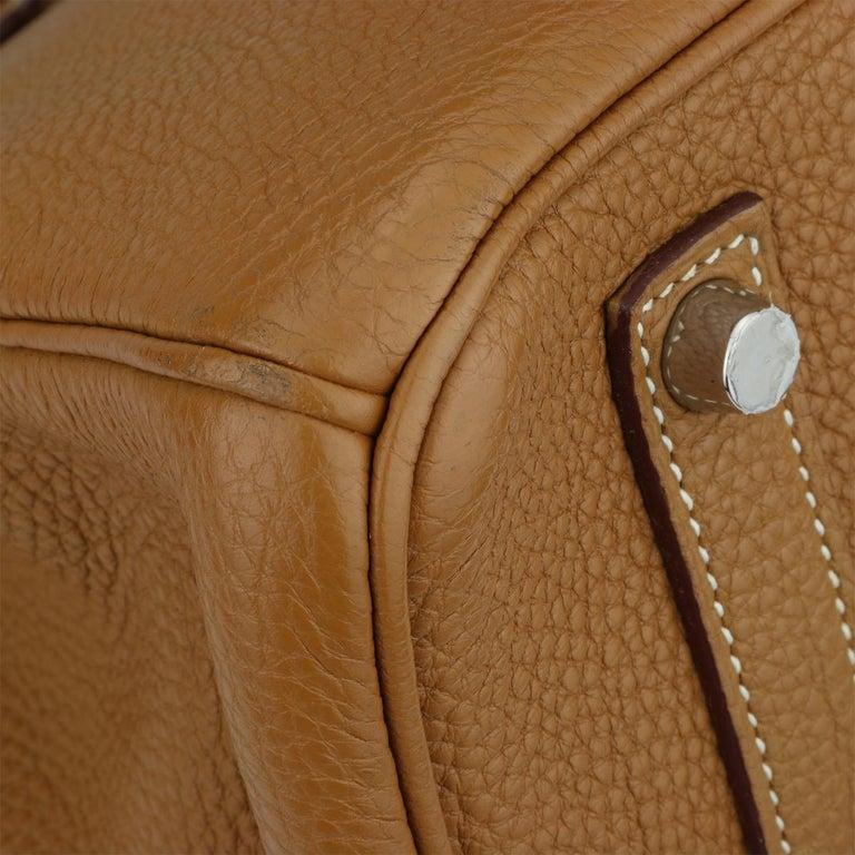 Hermès Birkin 35cm Gold Togo Leather with Palladium Hardware Stamp K Year 2007 1