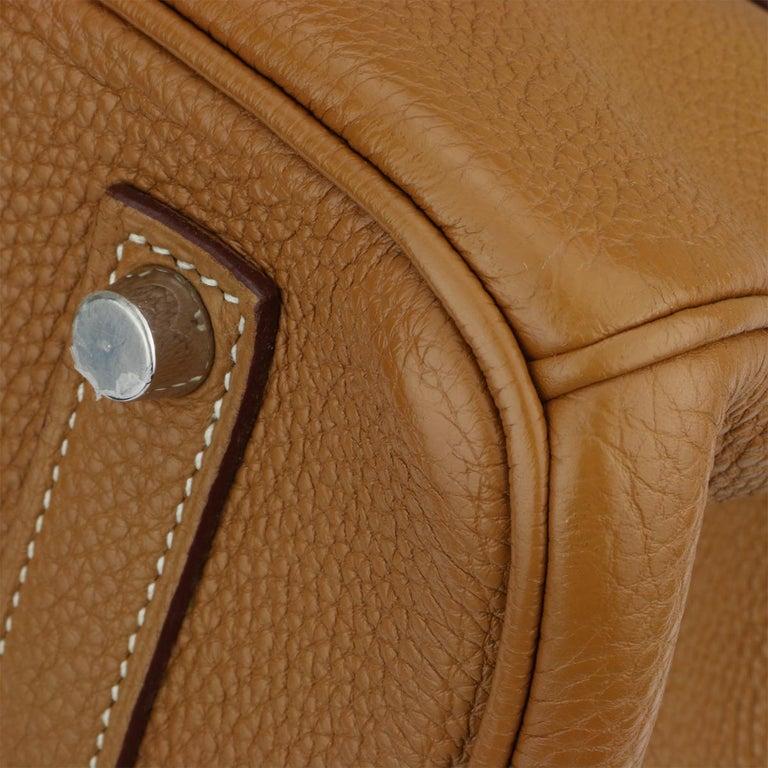 Hermès Birkin 35cm Gold Togo Leather with Palladium Hardware Stamp K Year 2007 2