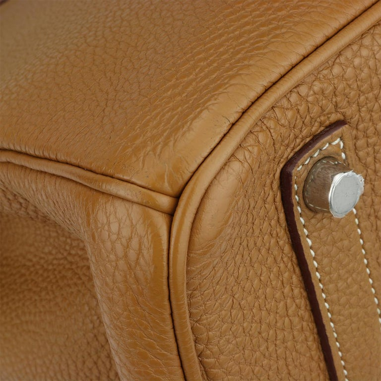 Hermès Birkin 35cm Gold Togo Leather with Palladium Hardware Stamp K Year 2007 3