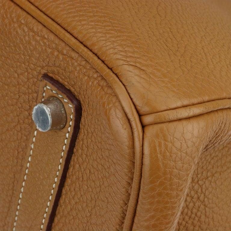 Hermès Birkin 35cm Gold Togo Leather with Palladium Hardware Stamp K Year 2007 4