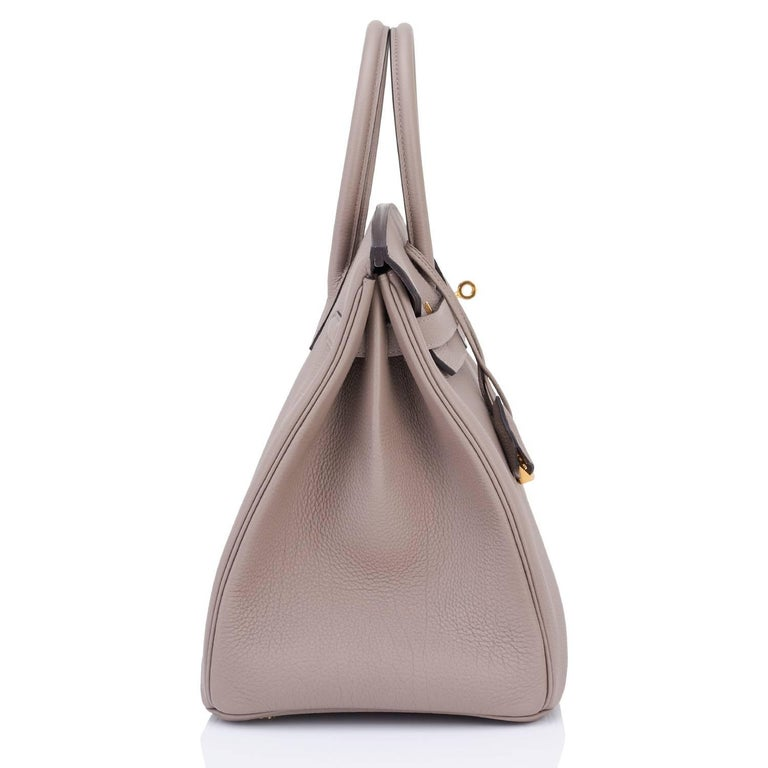 Hermes Birkin 35cm Gris Asphalte Dove Grey Togo Gold Hardware Asphalt Birkin Bag For Sale 2
