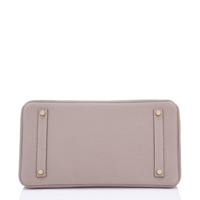 Hermes Birkin 35cm Gris Asphalte Dove Grey Togo Gold Hardware Asphalt Birkin Bag For Sale 3
