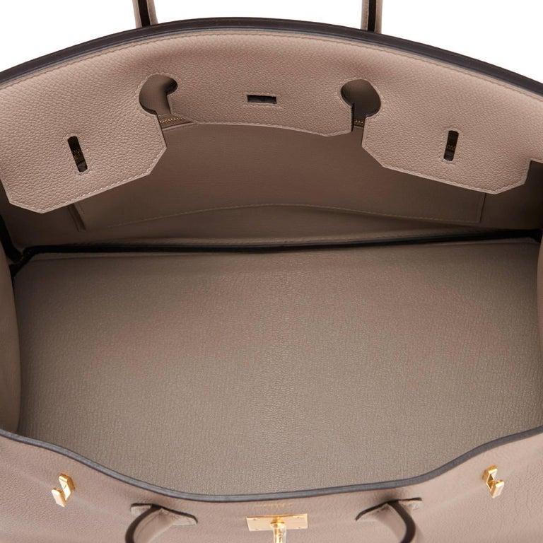 Hermes Birkin 35cm Gris Asphalte Dove Grey Togo Gold Hardware Asphalt Birkin Bag For Sale 4