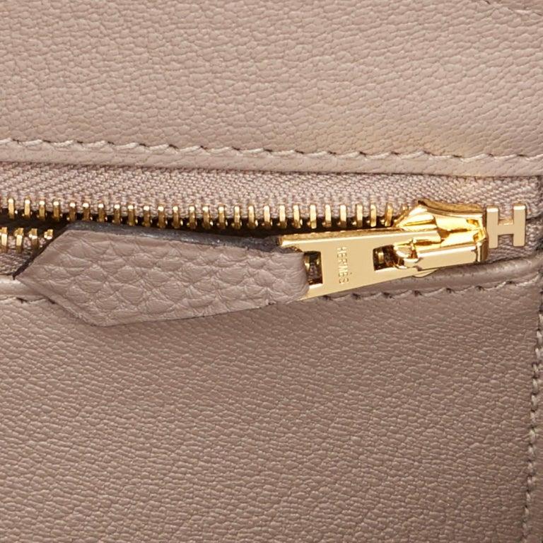Hermes Birkin 35cm Gris Asphalte Dove Grey Togo Gold Hardware Asphalt Birkin Bag For Sale 5