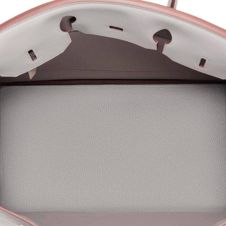 Hermes Birkin 35cm Gris Perle Togo Pearl Gray Palladium Hardware Y Stamp, 2020 For Sale 6