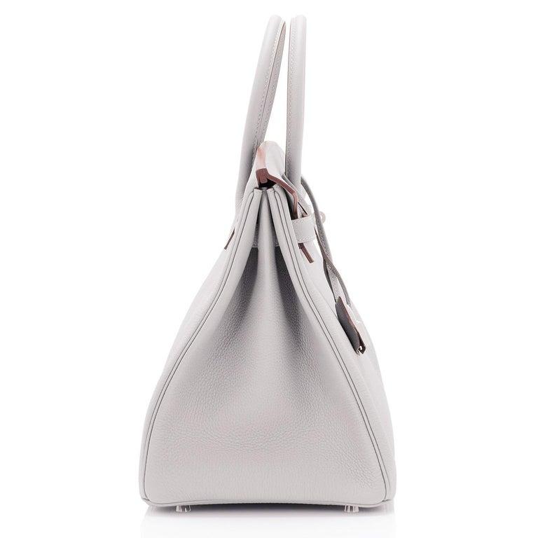 Hermes Birkin 35cm Gris Perle Togo Pearl Gray Palladium Hardware Y Stamp, 2020 For Sale 1