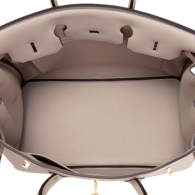 Hermes Birkin 35cm Gris Tourterelle Dove Grey Togo Gold Hardware For Sale 6