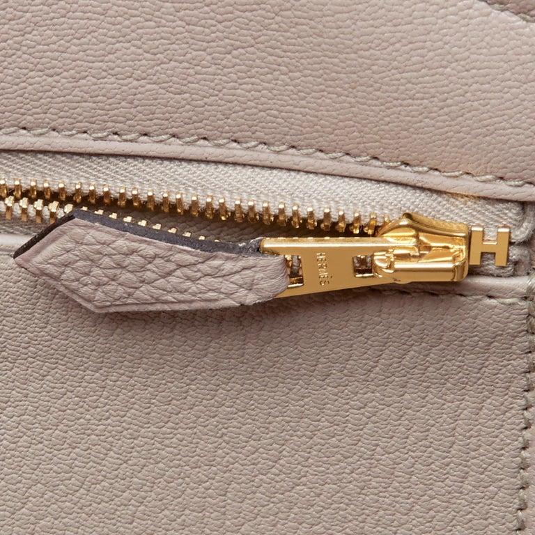 Hermes Birkin 35cm Gris Tourterelle Dove Grey Togo Gold Hardware For Sale 7
