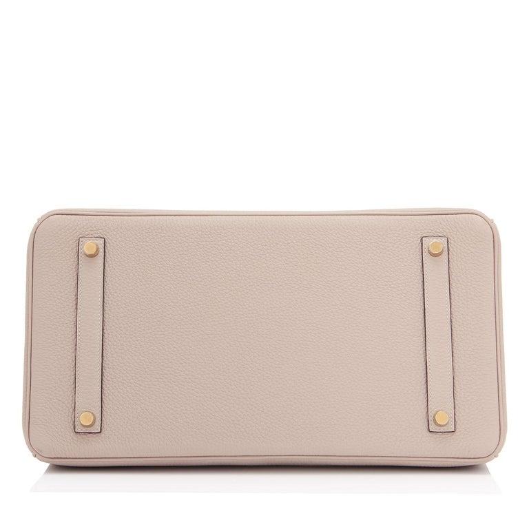 Hermes Birkin 35cm Gris Tourterelle Dove Grey Togo Gold Hardware For Sale 3