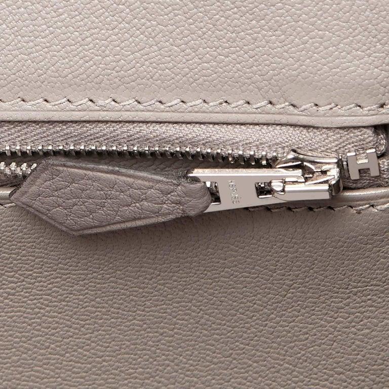 Hermes Birkin 35cm Gris Tourterelle Dove Grey Togo Palladium Bag NEW RARE For Sale 6