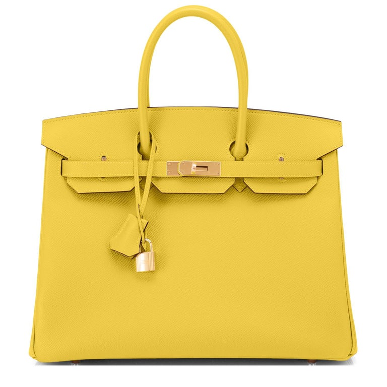 Hermes Birkin 35cm Lime Epsom Gold Hardware Birkin New In New Condition For Sale In New York, NY