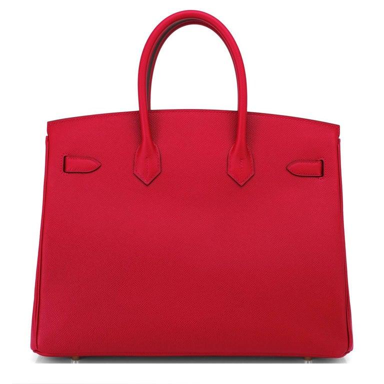 Hermes Birkin 35cm Rouge Casaque Lipstick Red Epsom Bag Gold Hardware NEW 1
