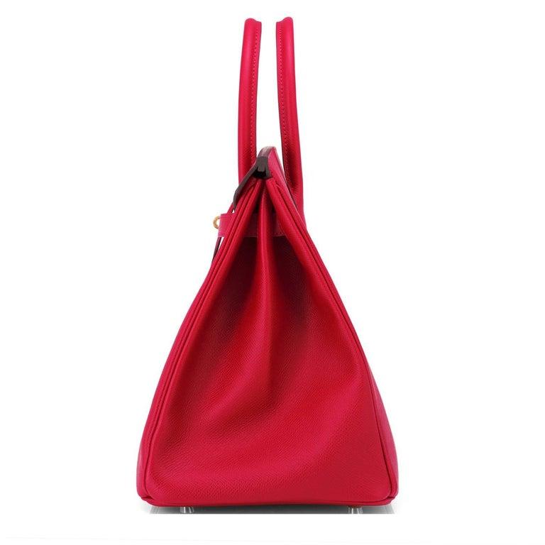 Hermes Birkin 35cm Rouge Casaque Lipstick Red Epsom Bag Gold Hardware NEW 2