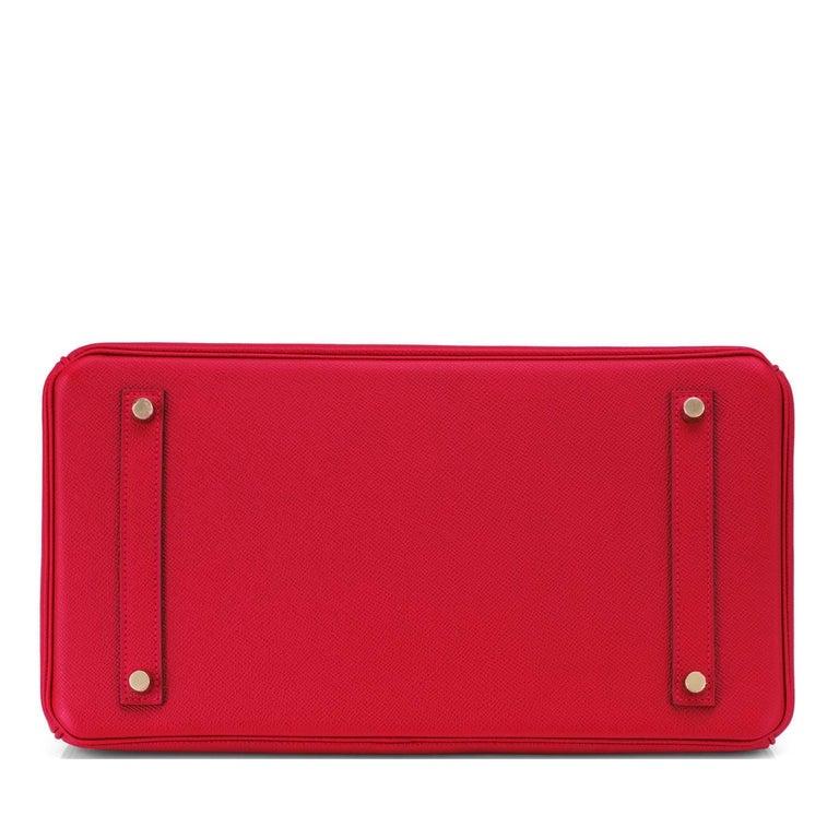 Hermes Birkin 35cm Rouge Casaque Lipstick Red Epsom Bag Gold Hardware NEW 3